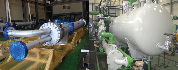 Liquid-ring-vacuum-pump-&-heat-exchanger