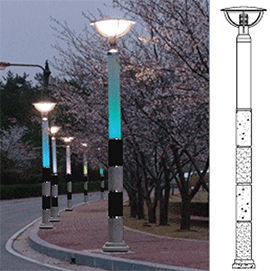 Optical-fiber-and-LED-lighting-for-outdoor-lighting-facilities