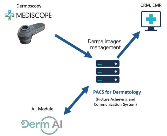 Smart Derma Images Management System based on A.I