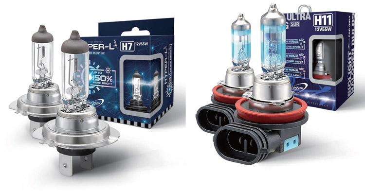 Automotive Headlight Halogen Bulbs